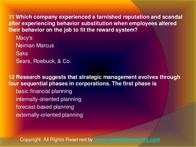 research suggests that strategic management evolves through four sequential phases in corporations Research suggests that strategic management evolves through four sequential phases in corporations  9020050249 mgt/521 management the company that is.