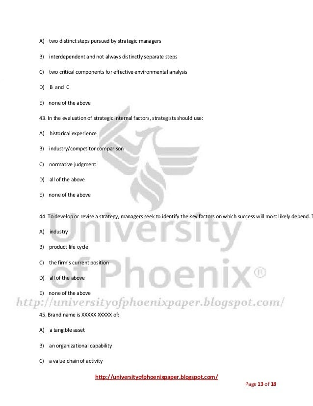 mgt 498 final exam study guide Mgt-498 final exam 1)in a survey of 50 corporations, which of the following was rated as a benefit of strategic management a clearer sense of.