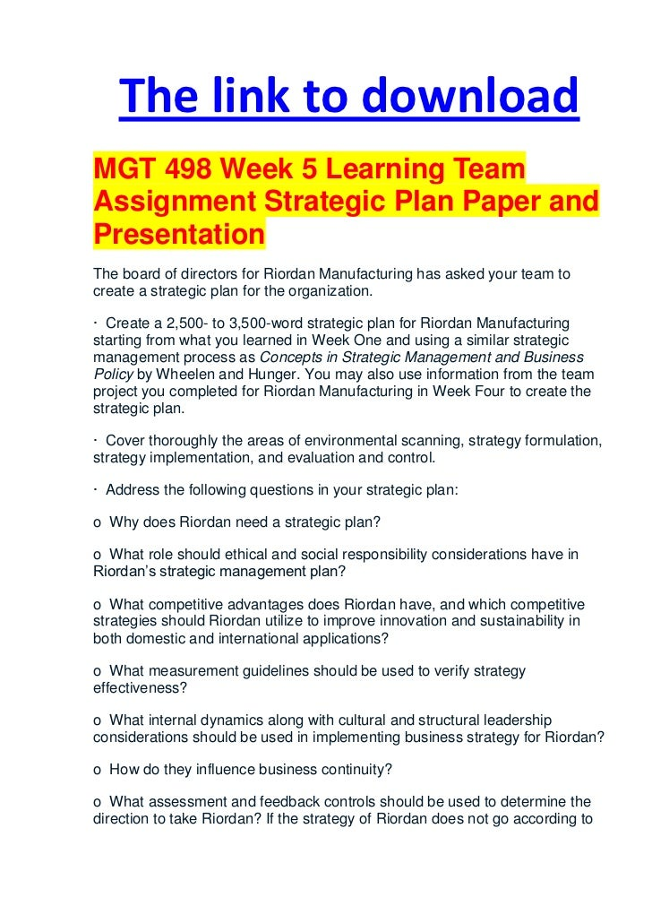 MGT498 Complete Course Material