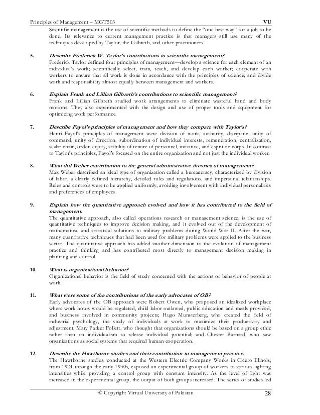 frederick w taylor s scientific management principles relevance and validity Frederick w taylor's scientific management principles: relevance and validity journal of applied management and entrepreneurship  principles of industrial.