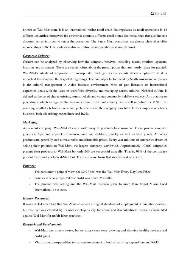 Wal mart and human resource management essay