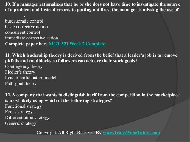 MGT521 Identify Lewin's three (3) stages of change