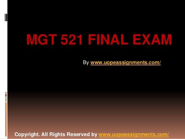 Mgt 4610 final exam