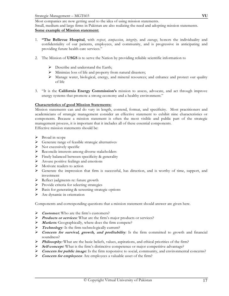 Effective Mission Statements Examples Images - example cover letter ...