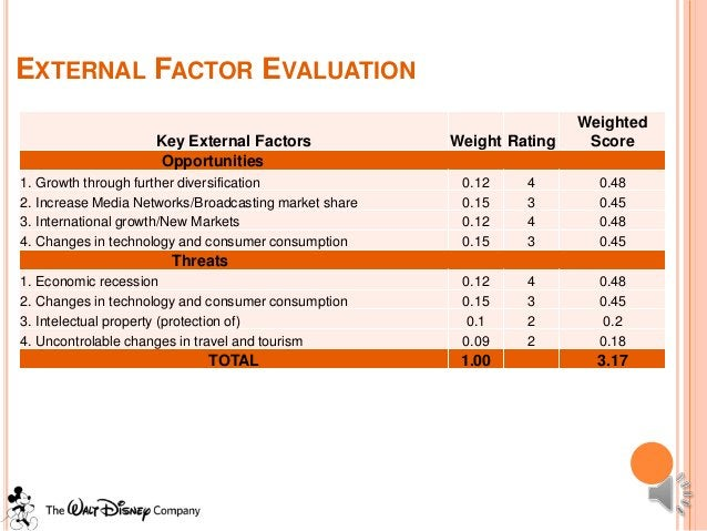 EXTERNAL FACTOR EVALUATION                                                                       Weighted                 ...