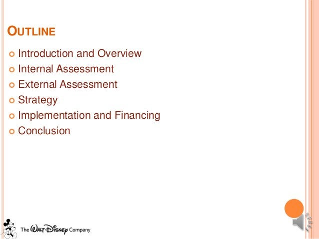 OUTLINE Introduction and Overview Internal Assessment External Assessment Strategy Implementation and Financing Conc...