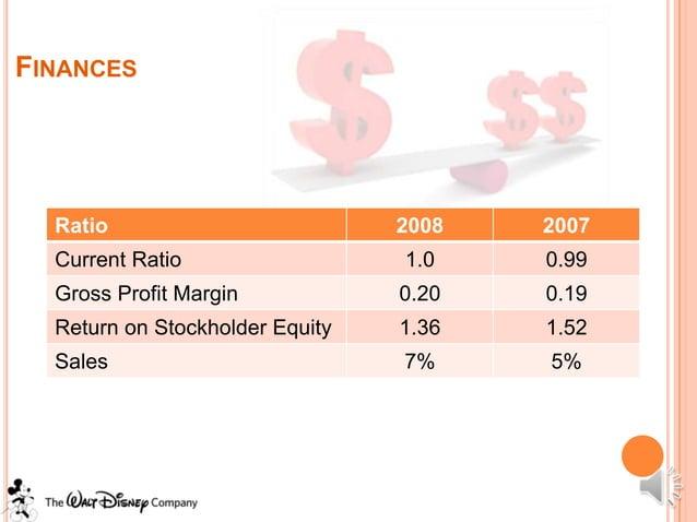 FINANCES  Ratio                          2008   2007  Current Ratio                  1.0    0.99  Gross Profit Margin     ...