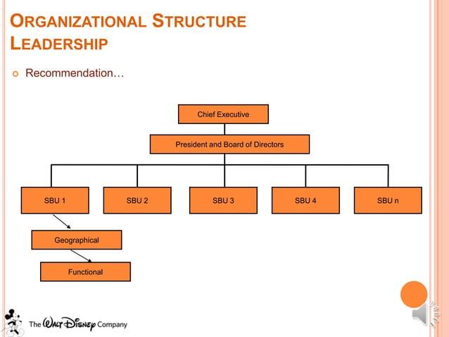 ORGANIZATIONAL STRUCTURELEADERSHIP   Recommendation…                                         Chief Executive             ...