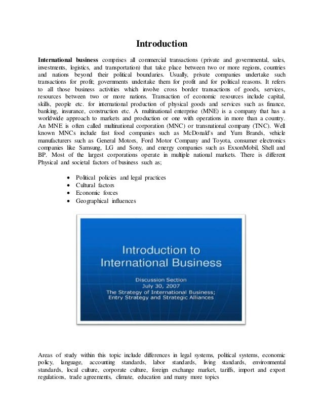 international business climate essay Essays related to international business international business development the active development of international businesses begun in early 90th, at the same time when eu finally established single market.