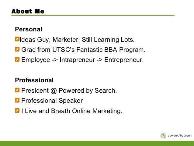 Search Marketing 101 - University of Toronto MGTD06 Lecture Slide 2