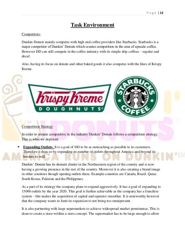 dunkin donuts case study Dunkin 'donuts franchises and operates retail stores donut for take-home and in-store use similar to the growth of the three alternatives: 1) more stores (owned and franchised), 2) expansion of our product line , and 3) more advertising.