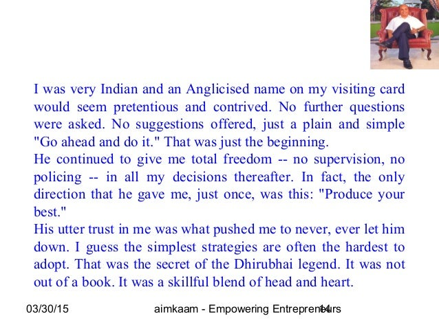 03/30/15 aimkaam - Empowering Entrepreneurs14 I was very Indian and an Anglicised name on my visiting card would seem pret...