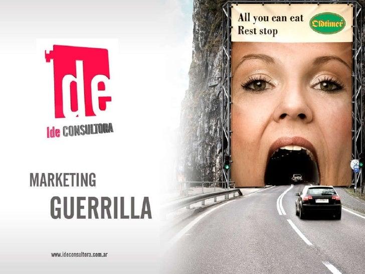 Marketing Guerrilla Slide 1