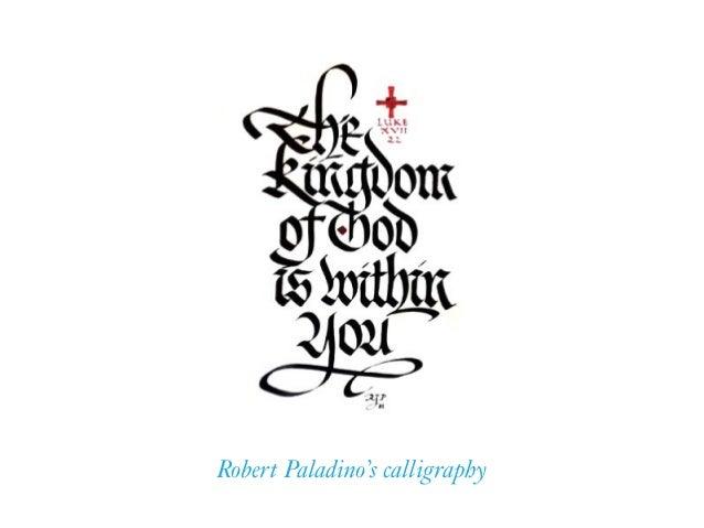 Robert Paladino's calligraphy