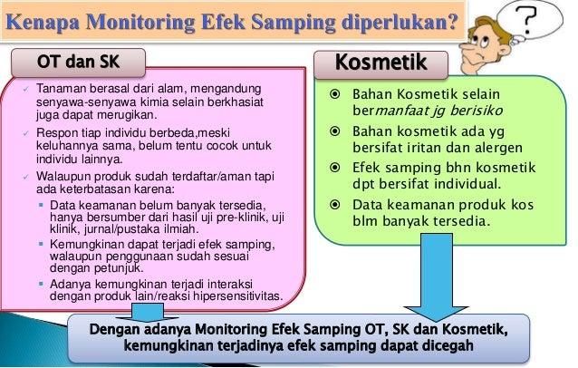 Program Monitoring Efek Samping Obat Tradisional Suplemen