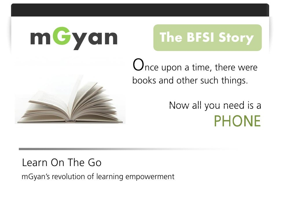 BFSI - Mobile Learning through mGyan