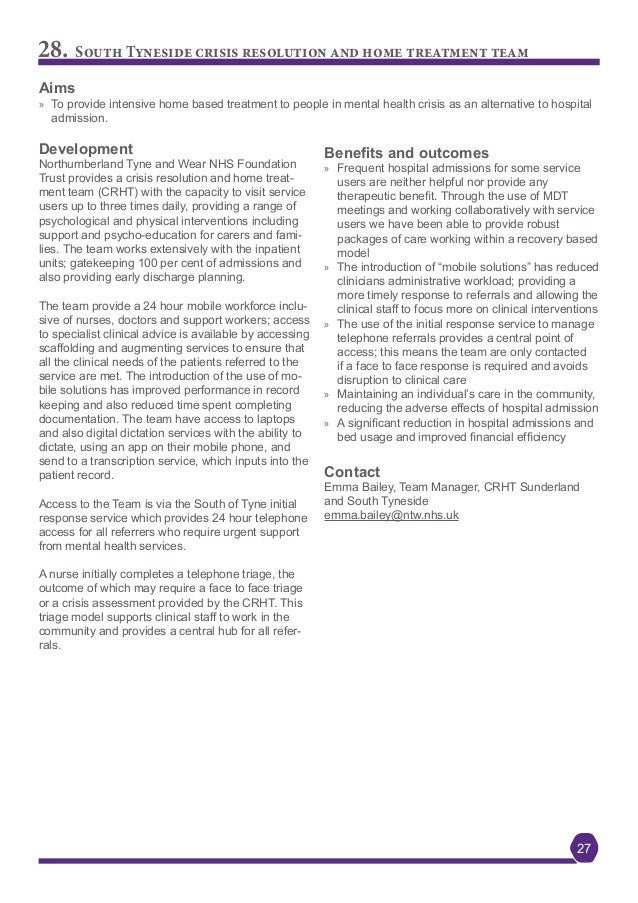 London Mental Health Crisis Commissioning Case Studies
