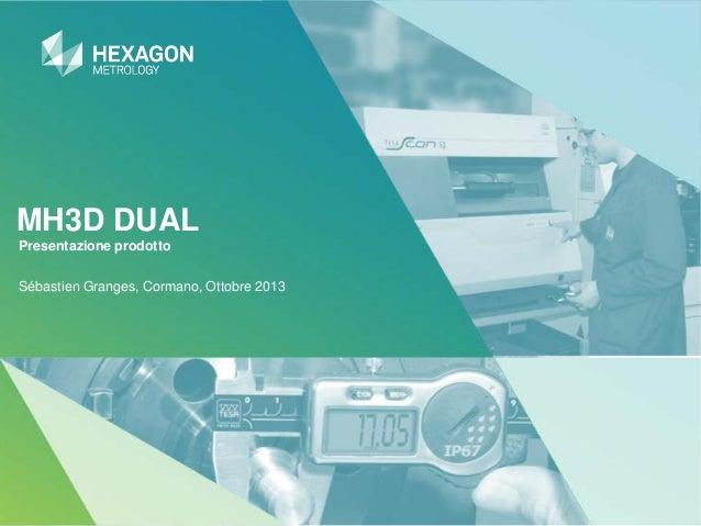 MH3D DUAL Presentazione prodotto Sébastien Granges, Cormano, Ottobre 2013