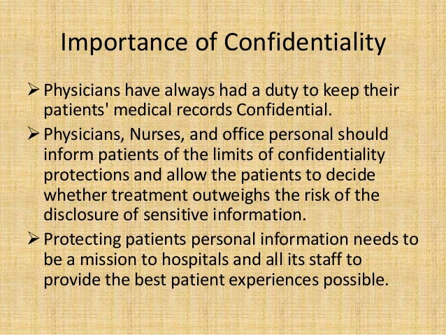patient confidentiality Health insurance portability and accountability act what is hipaa hipaa is the acronym for the health insurance portability and accountability act that.