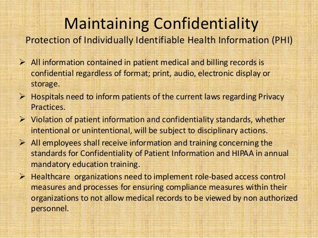 Mha Health Care Capstone  Confidentiality