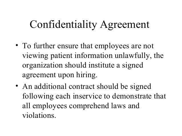 Mha 690 healthcare capstone jodi bassdaniels – Medical Confidentiality Agreement