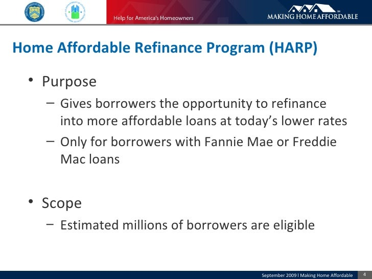 Mha borrower presentation long english 090909 Home affordable modification program