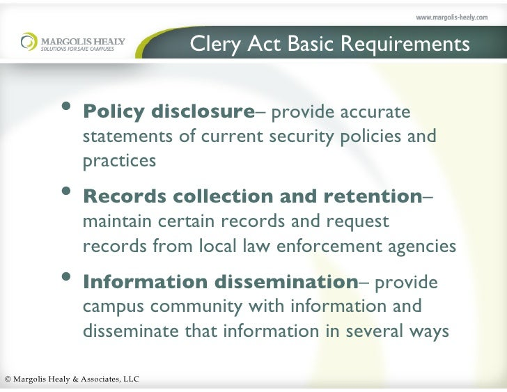 clery act implications for violence against crimes