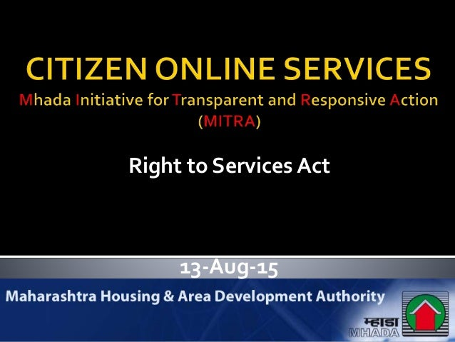 13-Aug-15 Right to Services Act