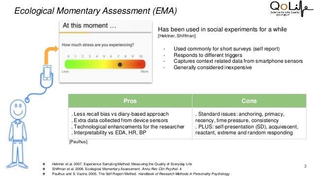Peer-vasive Computing: Leveraging Peers to Enhance the Accuracy of Self-Reports in Mobile Human Studies Slide 3