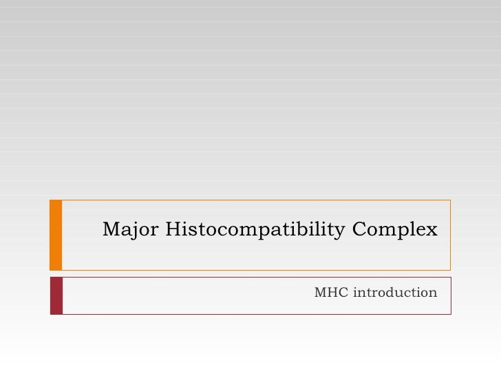 Major Histocompatibility Complex MHC introduction