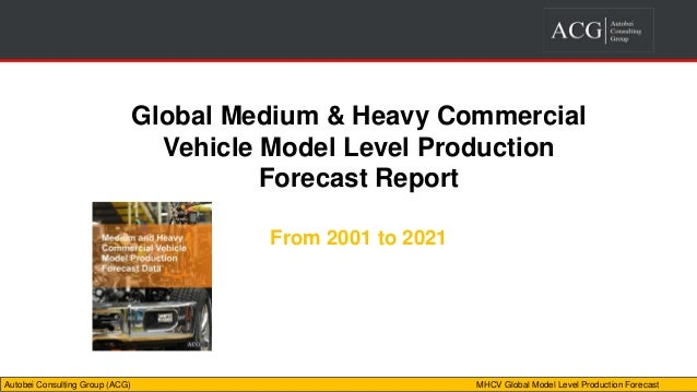 medium and heavy global commercial vehicle model production forecast