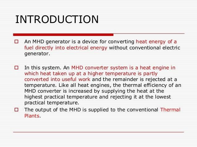 Mhd power generation