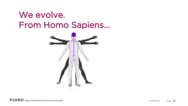 We evolve. From Homo Sapiens…  Confidential  Page 23