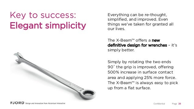 Key to success: Elegant simplicity  Everything can be re-thought, simplified, and improved. Even things we've taken for gra...