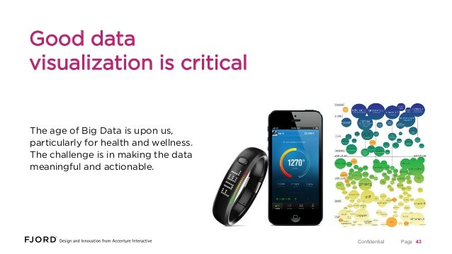 Good data visualization is critical  The age of Big Data is upon us, particularly for health and wellness. The challenge i...