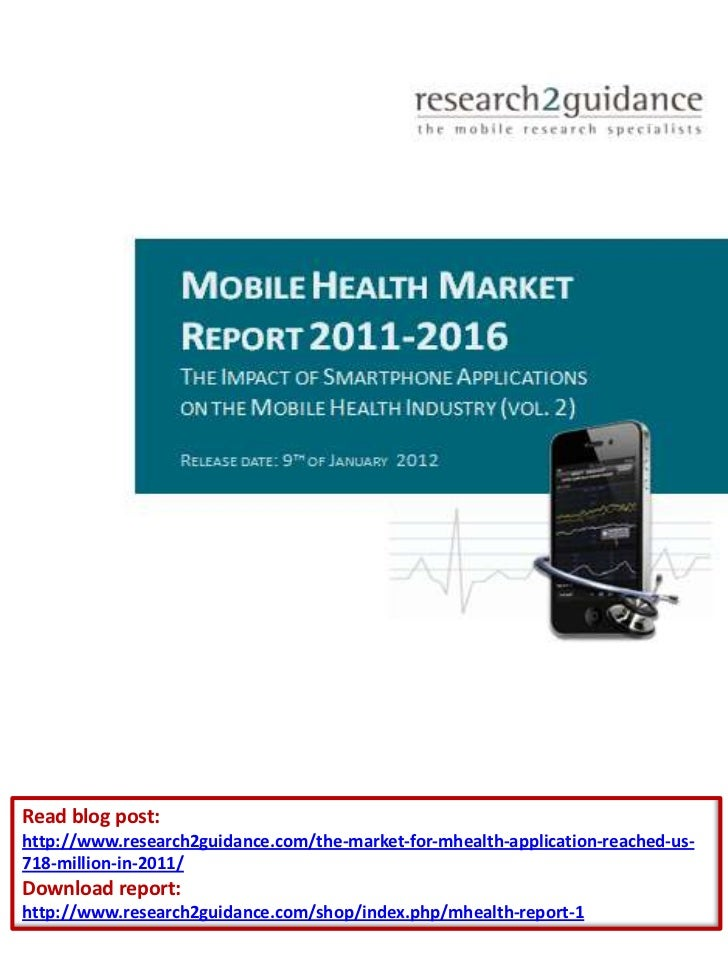 Read blog post:http://www.research2guidance.com/the-market-for-mhealth-application-reached-us-718-million-in-2011/Download...