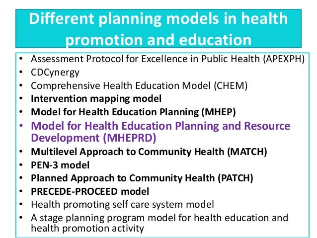 health promotion and education Journal of education and health promotion (jehp) is an open-access peer- reviewed publication which functions under the leadership of and international.