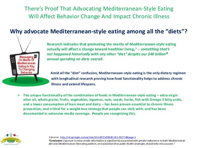 """Why advocate Mediterranean-style eating among all the """"diets""""? Research indicates that promoting the merits of Mediterrane..."""