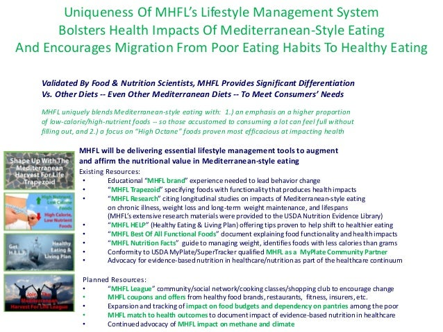 Uniqueness Of MHFL's Lifestyle Management System Bolsters Health Impacts Of Mediterranean-Style Eating And Encourages Migr...