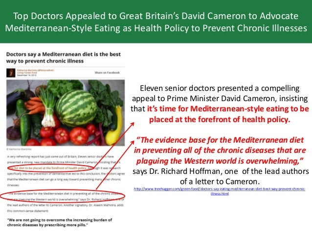 Eleven senior doctors presented a compelling appeal to Prime Minister David Cameron, insisting that it's time for Mediterr...