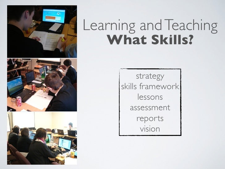 Learning and Teaching    What Skills?             strategy      skills framework            lessons         assessment    ...