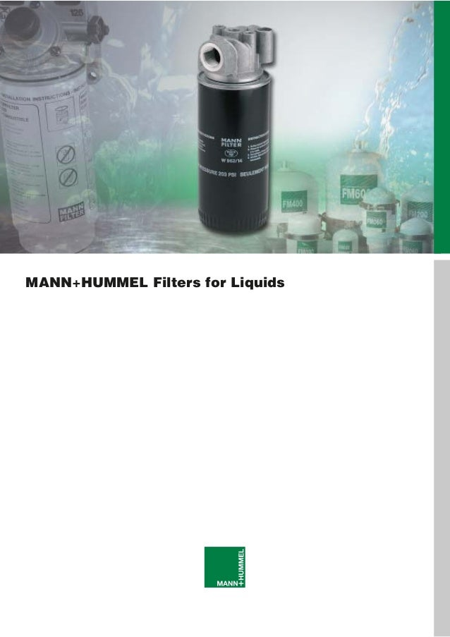 MANN+HUMMEL Filters for Liquids