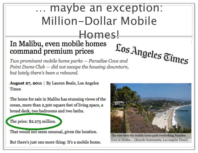 An Exception Million Dollar Mobile Homes