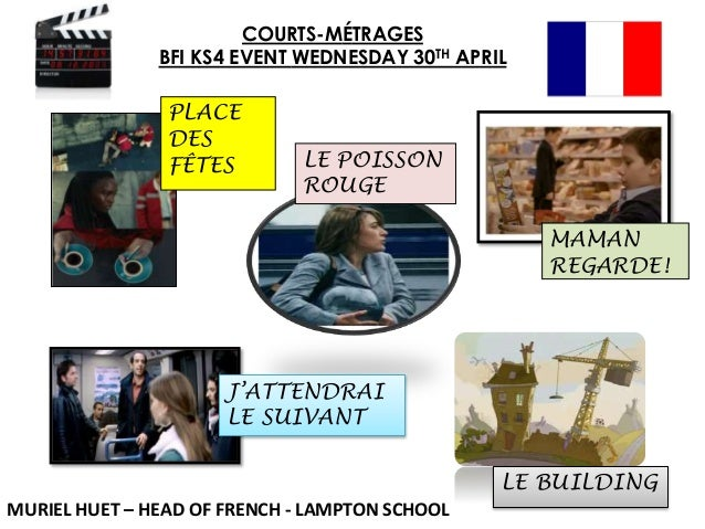 COURTS-MÉTRAGES BFI KS4 EVENT WEDNESDAY 30TH APRIL PLACE DES FÊTES LE POISSON ROUGE MAMAN REGARDE! MURIEL HUET – HEAD OF F...