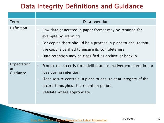 Mhra data integrity requirements latest information 49 term data retention pronofoot35fo Gallery