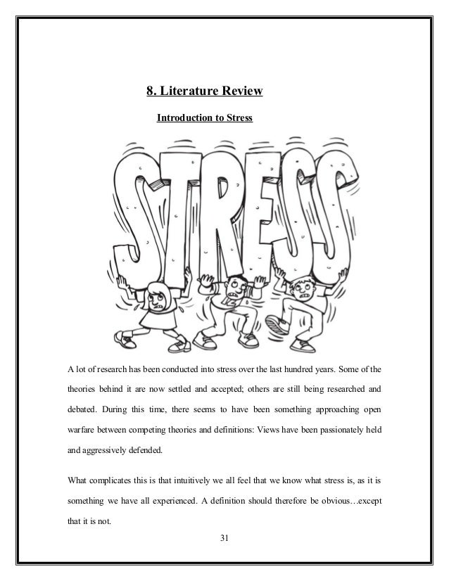 review literature on stress management among bank employees This paper is about occupational stress and management of this type of stress  economic literature  the occupational stress and risk of it among the employees.
