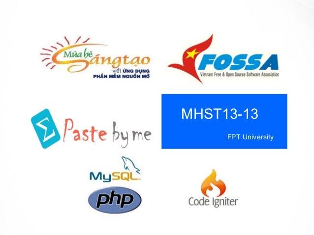 MHST13-13 FPT University