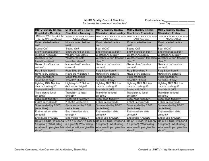 MHTV Producer Scorecard