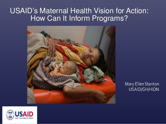 USAID's Maternal Health Vision for Action: How Can It Inform Programs?
