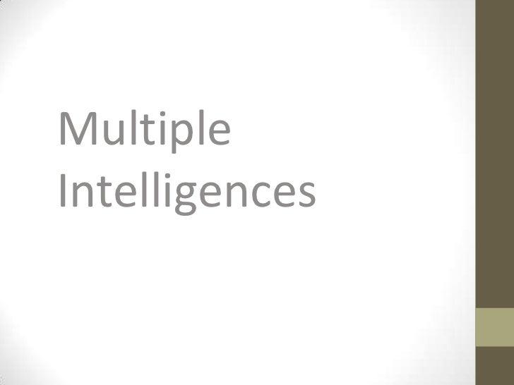MultipleIntelligences